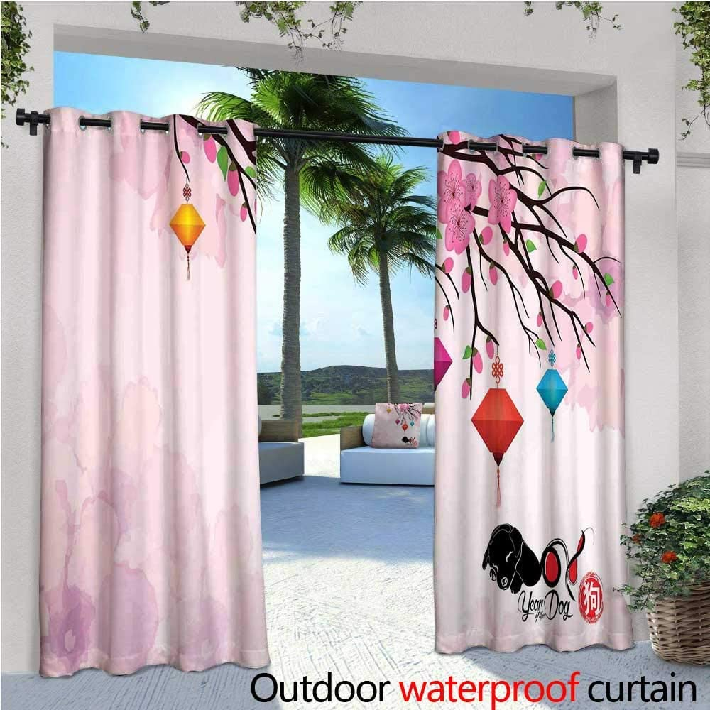 XO Decor - Cortinas de balcón con diseño de Gatos y Besos, con Pincel, Color Pastel, Impermeable, con Ojales, Color Azul Claro y Blanco: Amazon.es: Jardín