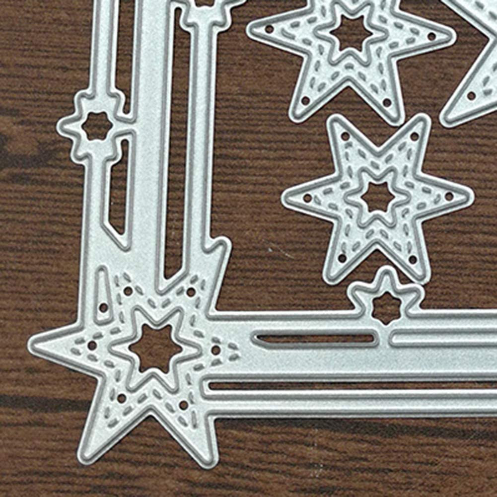 Silver YESZ Scrapbooking /& Stamping,Cutting Dies,Star Frame Cutting Dies DIY Scrapbook Emboss Paper Card Craft Punch Stencil Mold