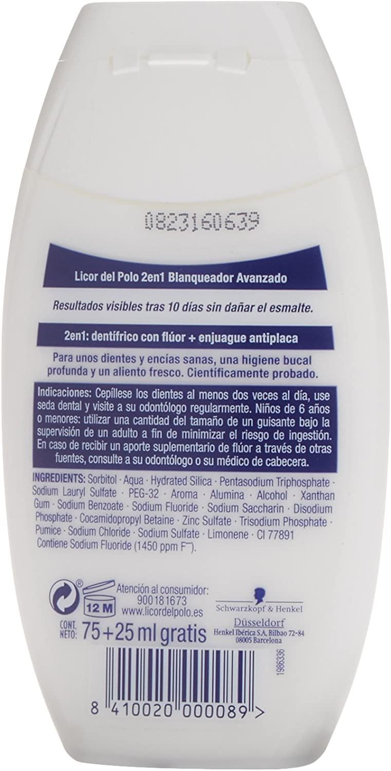 Licor Del Polo 2 en1 Blanqueador - 75 ml: Amazon.es: Amazon Pantry