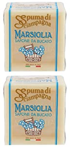 """Italsilva:""""Spuma di Sciampagna"""" Laundry Marseille Soap Cube 8.82 Ounce (250gr) Packages (Pack of 2)"""