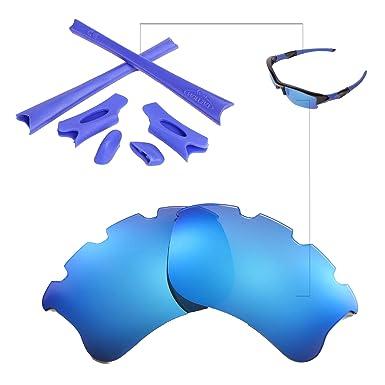 Walleva Polarized Ice Blue Vented Lenses And Blue Earsocks For ... 614d15c1ab