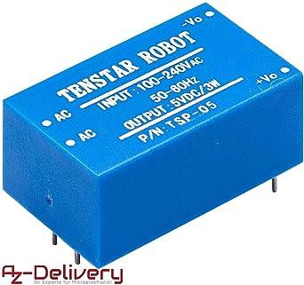 AZDelivery 220V a 5V Fuente de alimentación Mini para Arduino y ...