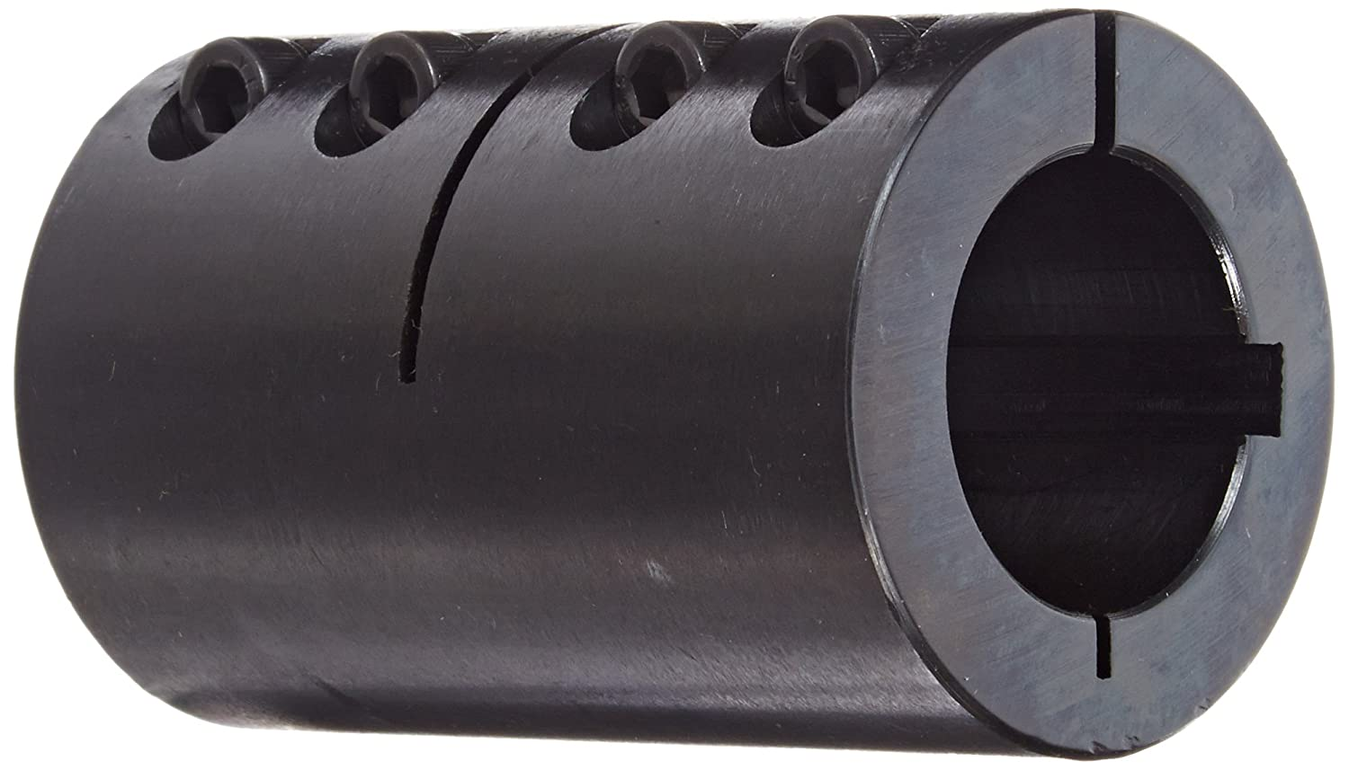 Climax Part ISCC-125-125-KW Mild Steel, Black Oxide Plating Clamping Coupling, 1 1/4 inch X 1 1/4 inch bore, 2 1/16 inch OD, 3 1/4 inch length, 1/4-28 x 3/4 Clamp Screw Climax Metal Products Company