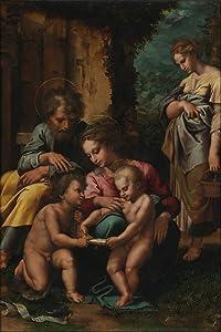 "24""x36"" Gallery Poster, Giulio Romano Giulio Pippi Italian Roman, Before 1499 1546 The Holy Family"