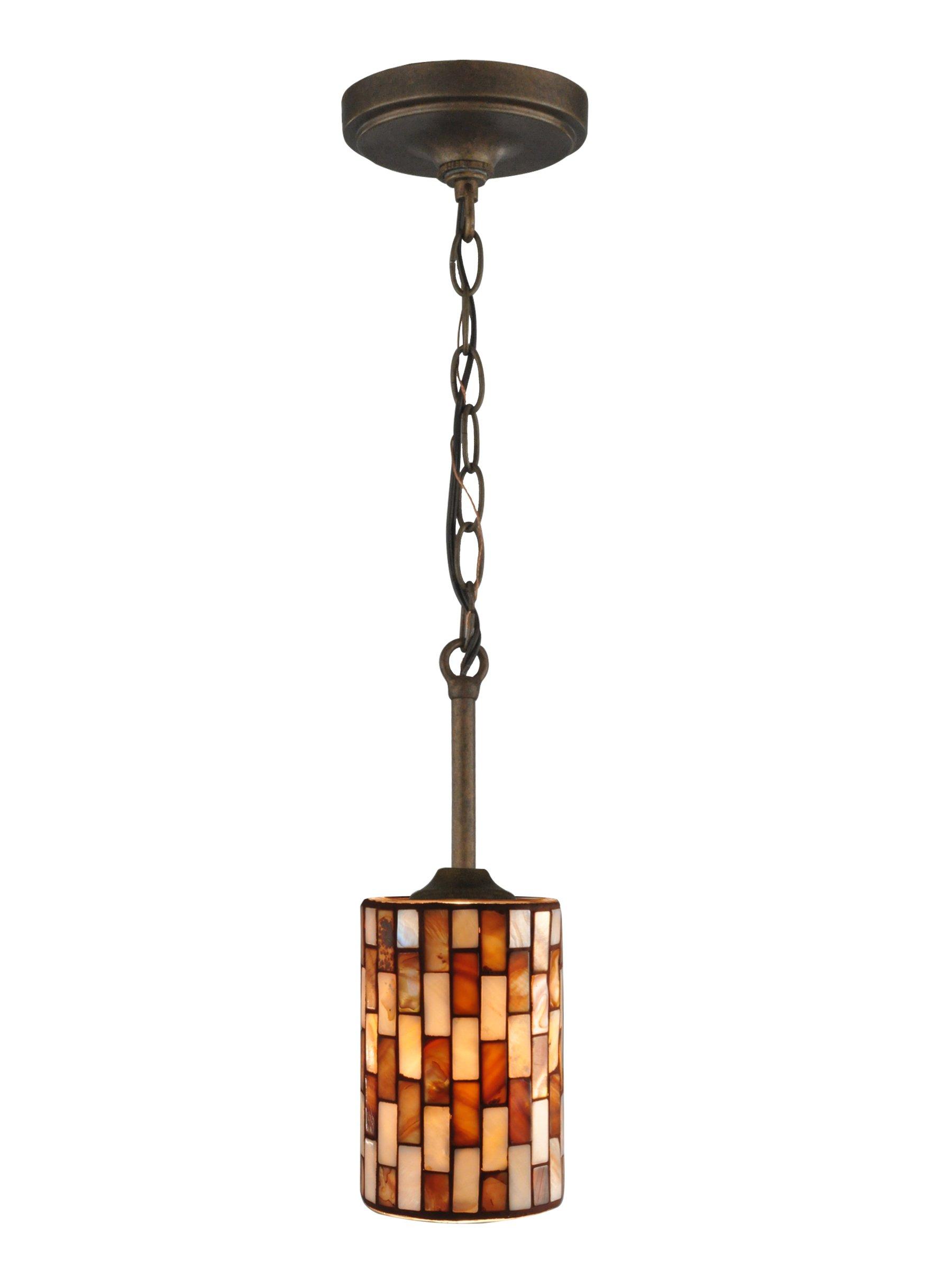 Springdale TH13318 Myraid Chain Mosaic Mini Pendant, Rustic Bronze