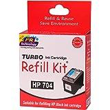 Turbo Refill Kit for hp 704 Black Ink Cartridge