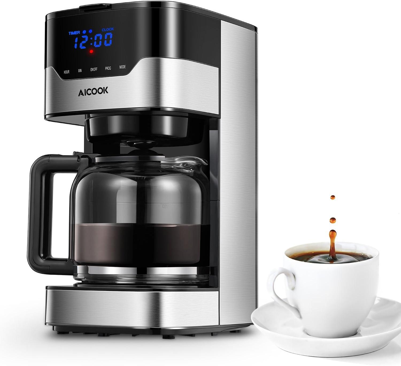A Aicook - Cafetera de filtro, cafetera eléctrica programable de ...