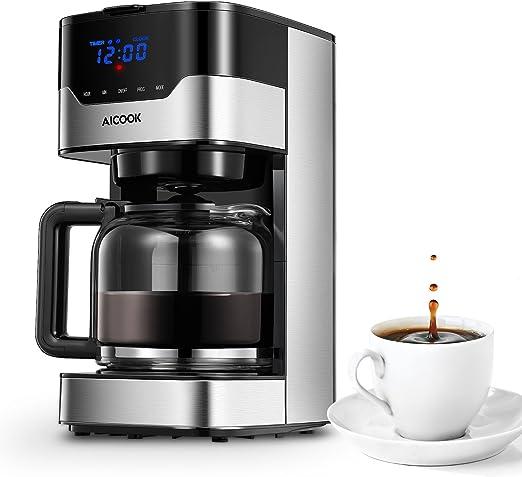 Aicook Cafetera con Temporizador Programable, Cafetera Goteo para ...