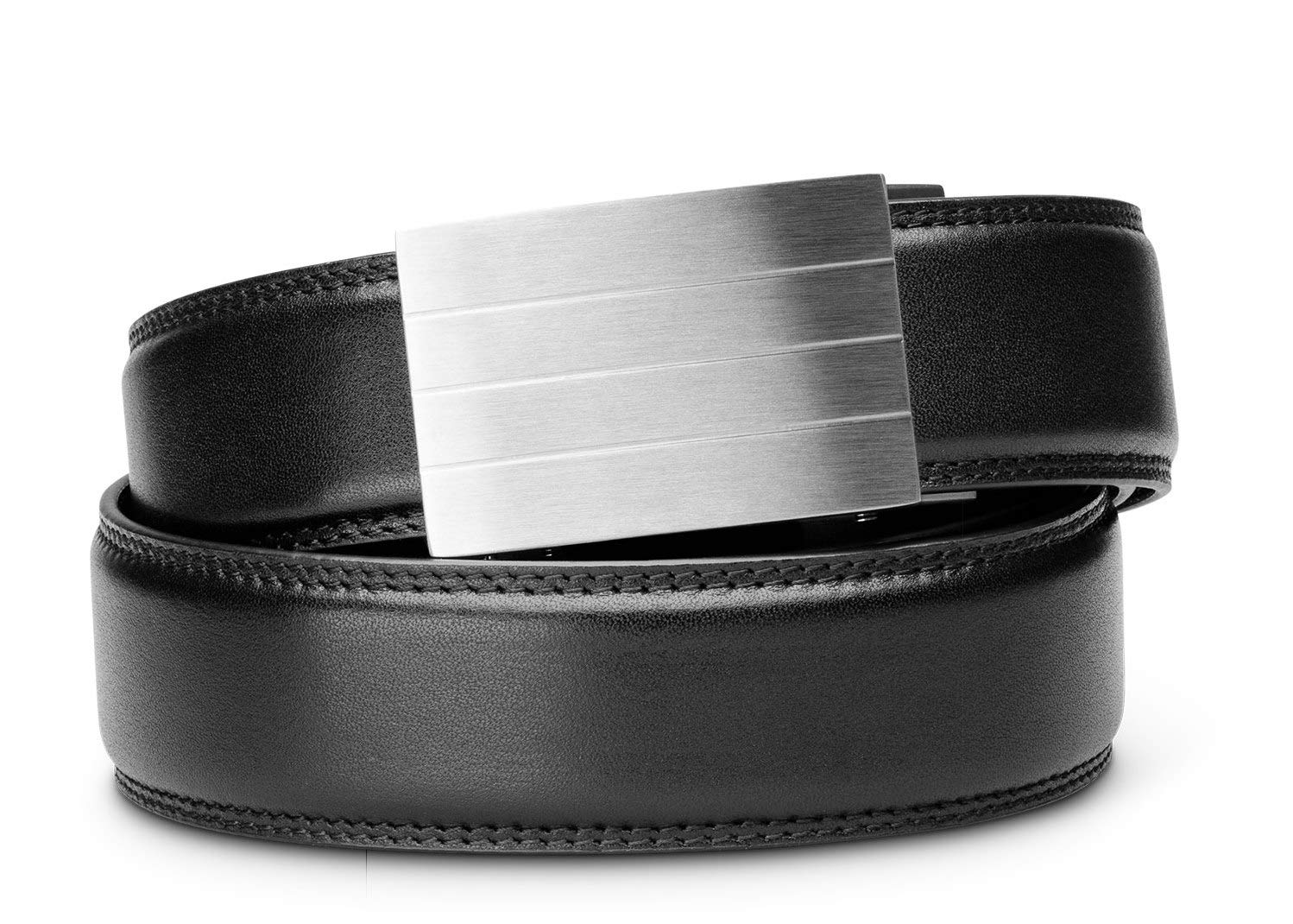 KORE Men's Full-Grain Leather Track Belts | ''Evolve'' Stainless Steel Buckle