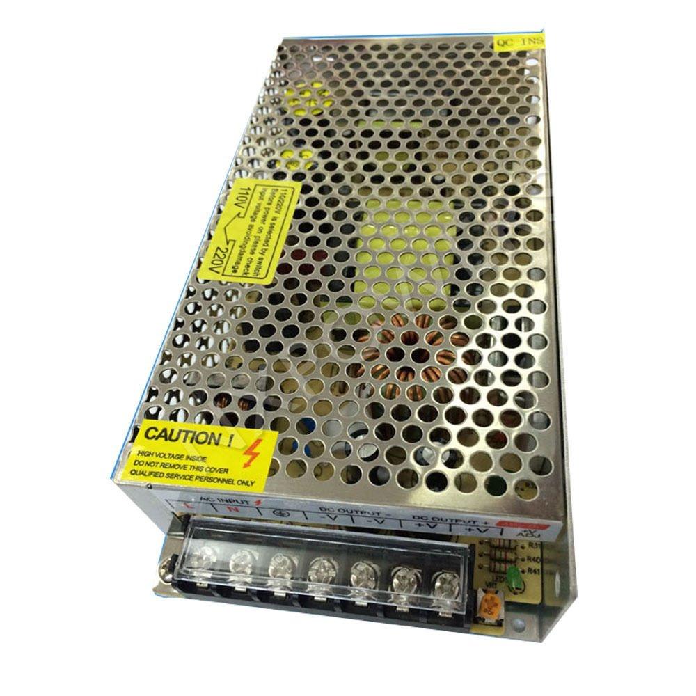Henxlco AC 110V - 220V TO DC 12V Regulated Transformer Switch Power Supply Driver Adapter For CCTV camera Security System LED Strip Light (20A)
