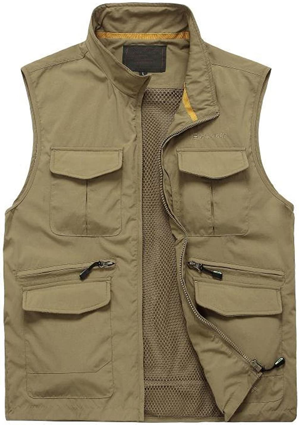 Yimoon Mens Casual Work Utility Outdoor Fishing Travel Vest