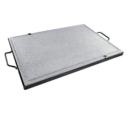 Plancha asar volcánica parrilla de piedra 50 x 40 cm cocina ...