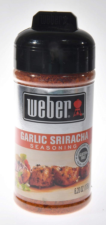 Weber Grill Seasoning Garlic Sriracha, 6.2 Ounce