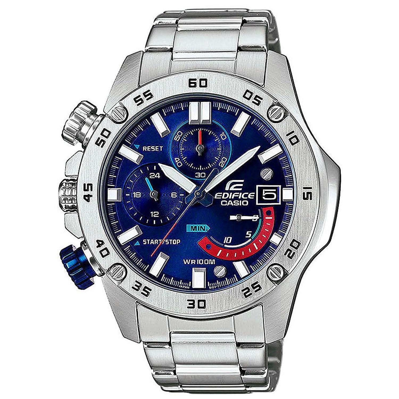 [カシオ]CASIO エディフィス EDIFICE 左リューズ 100m防水 ブルー クロノグラフ EFR-558D-2A メンズ 腕時計 [並行輸入品] B079DVG6Y7