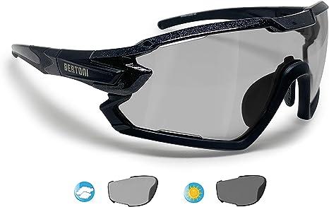 BERTONI Gafas Ciclismo Running MTB Esquí Tennis Padel Polaridas Fotocromaticas Mod. Quasar (Negro/Fotocromaticas Polarizadas): Amazon.es: Deportes y aire libre