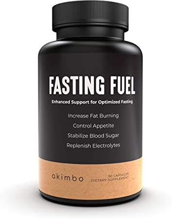 Fasting Fuel - All-in-One Intermittent Fasting & Keto Diet Supplement, Appetite Suppressant, Electrolyte Hydration, Weight Loss, L-Carnitine, Green Tea Extract, Moringa, Vegan Friendly - 30 Serv