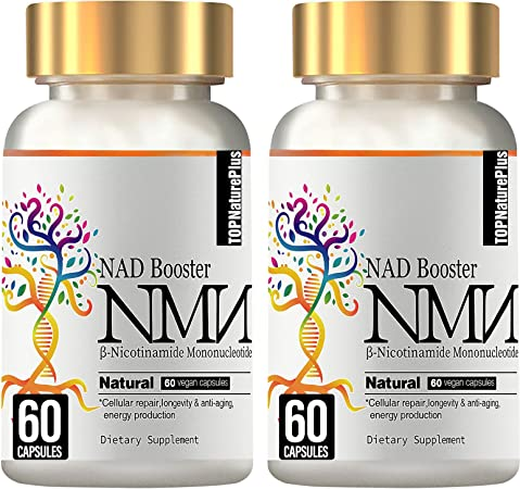 NMN Supplement, 2PACK NMN Nicotinamide Mononucleotide Capsules for Supports Anti-Aging, Longevity and Energy, Naturally Boost NAD+ Levels(Like Riboside) - 60 Capsules