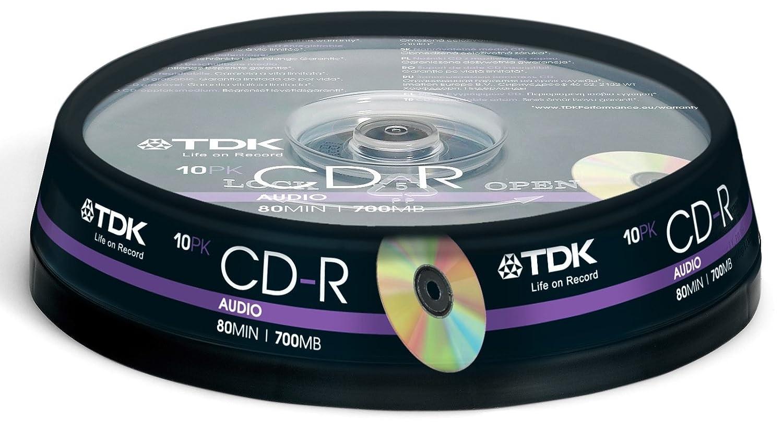 TDK CD-RXG80CB10 CD-R Audio 700MB 10 pack Cakebox: Amazon.co.uk