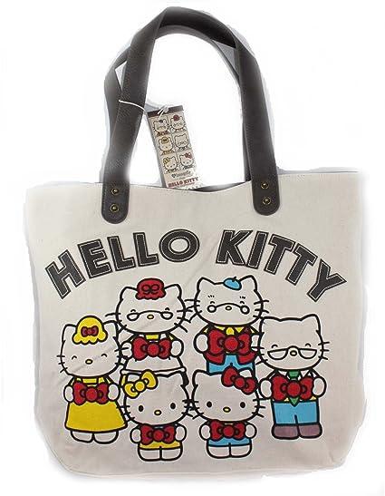 19f0b980e Amazon.com: Loungefly Hello Kitty Con 40th Anniversary Large Tote Satchel Handbag  Purse: Everything Else