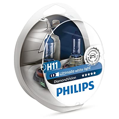 PHILIPS - Diamond Vision H11 Halogen HID Super White 5000K (Pair): Automotive