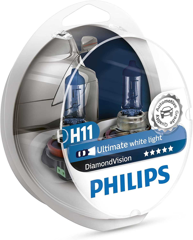 Philips Diamond Vision H11 bombillas de faros (Pack doble)