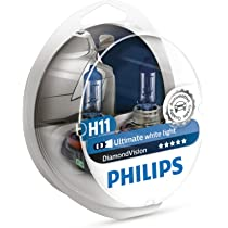 ... Philips - Diamond Vision H11 Halogen HID Super White 5000K (Pair) ...