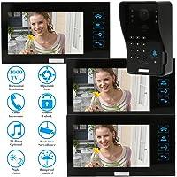 """KKmoon 7"""" Timbre Intercomunicador Video Portero (1000TVL Cámara"""