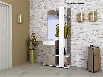 Mobili Da Ingresso Con Attaccapanni : Gli arredi di maria lia mobile ingresso moderno anna con specchio
