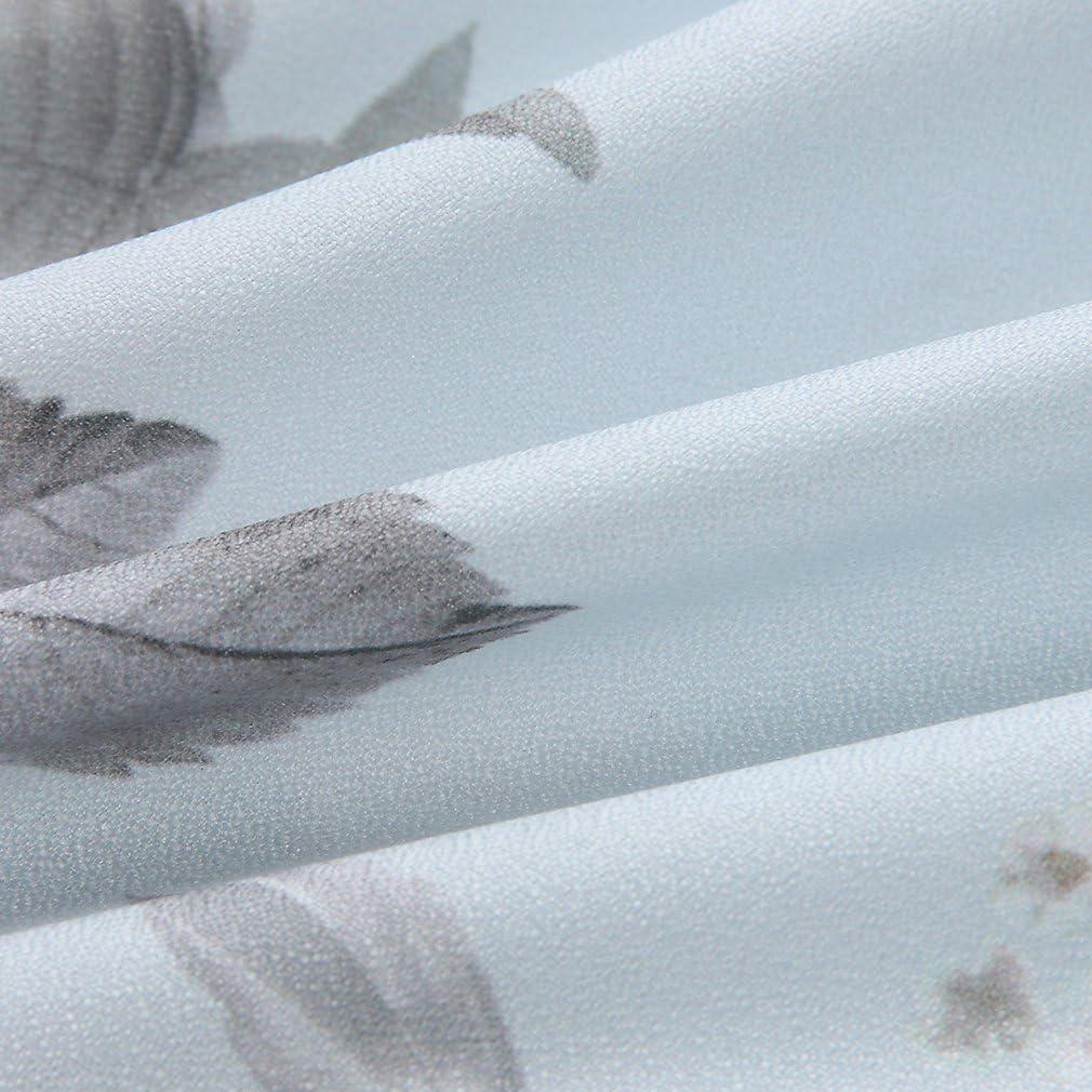 AIYUE/® Mini Abito Donna Estate Chiffon Floreale Stampato Scollato-V Tuta Pagliaccetto Senza Spalline A Pieghe Pantaloncini Corti Elegante da Sera Cerimonia