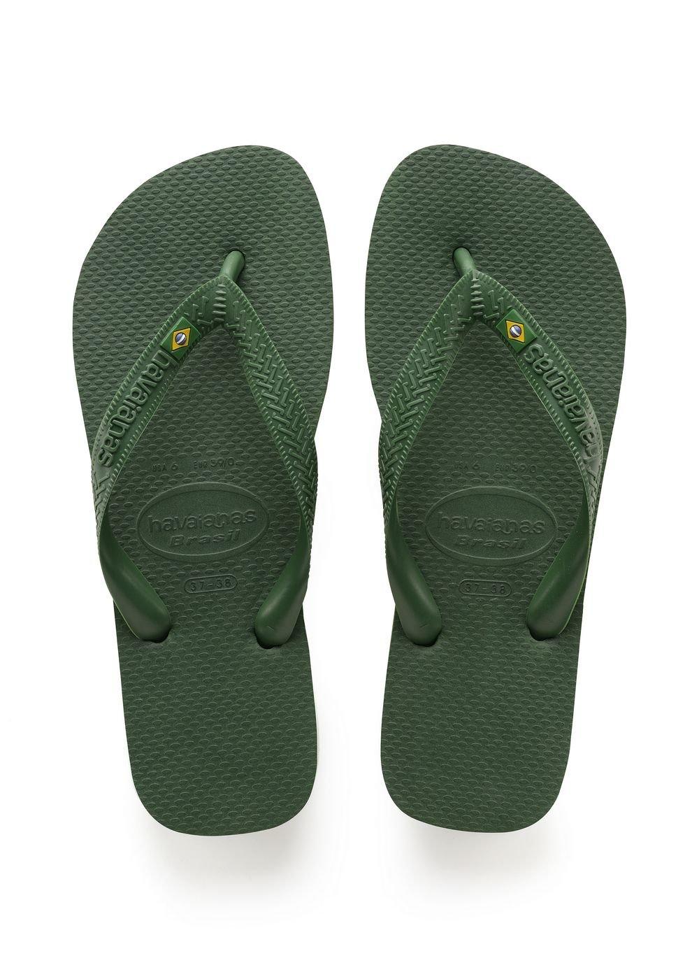 Havaianas Brasil, Unisex Adult's Flip Flops, Green (Brasil Amazonia), 3/4 UK (37/38EU) (35/36 BR) by Havaianas (Image #1)