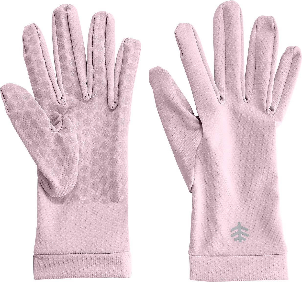 Coolibar UPF 50+ Unisex Sun Gloves - Sun Protective (X-Small- Dusty Mauve)