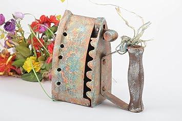 handmade antikes bugeleisen vintage deko idee haus dekoration gross wunderschon