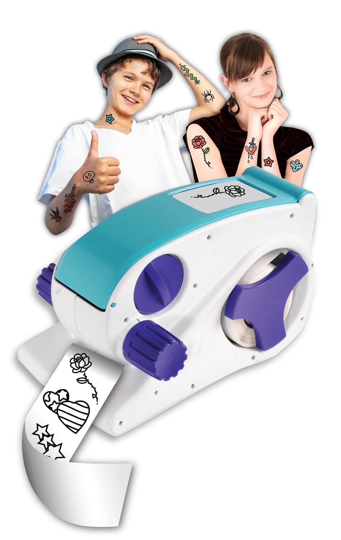 AMAV Super Tattoos Factory Toy Set for Kids - DIY Make Your Own Design Tattoos