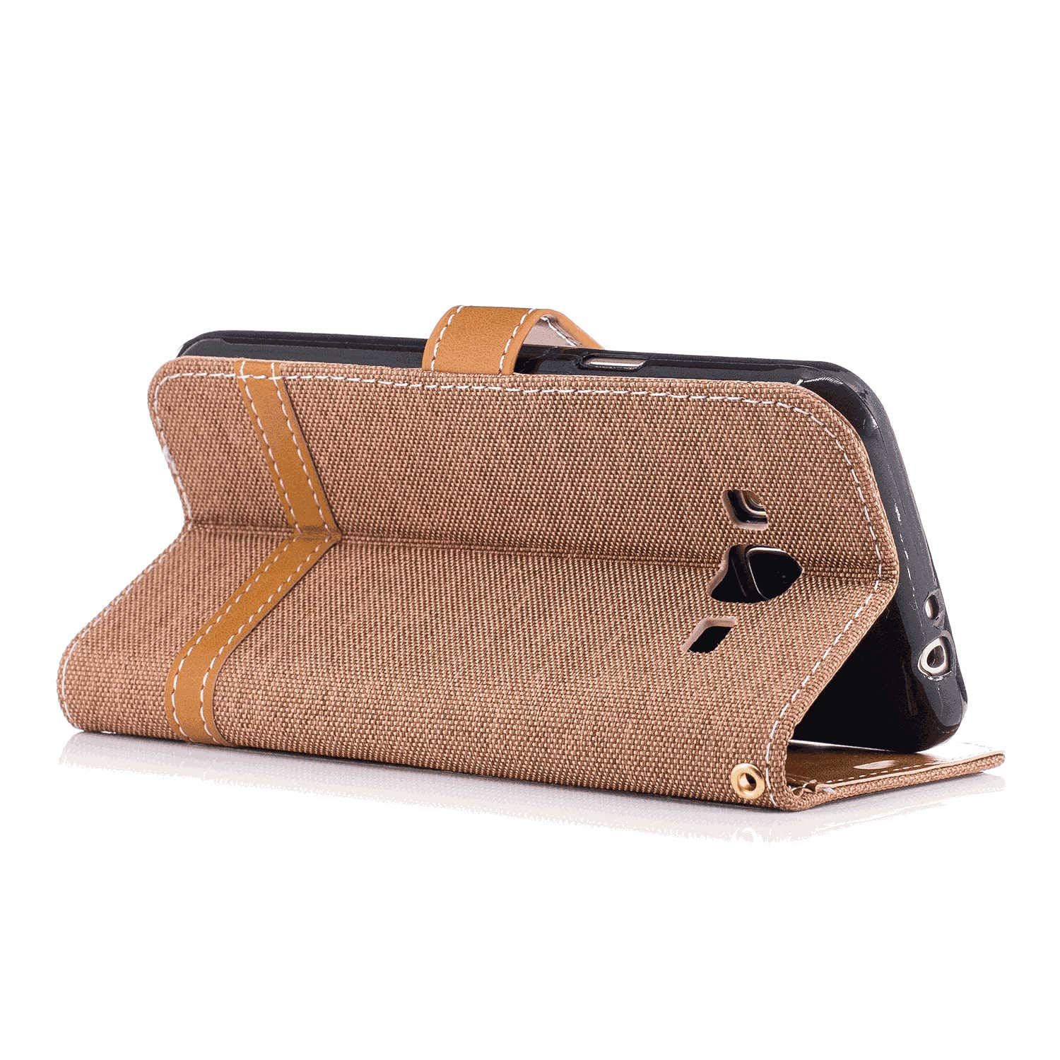 Leather Cover Business Gifts Wallet with Extra Waterproof Underwater Case Flip Case for iPhone X
