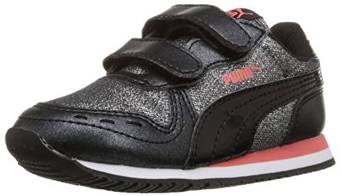 PUMA Cabana Racer Glitter V Kids Sneaker (Little Kid Big Kid Toddler) 9a856c996
