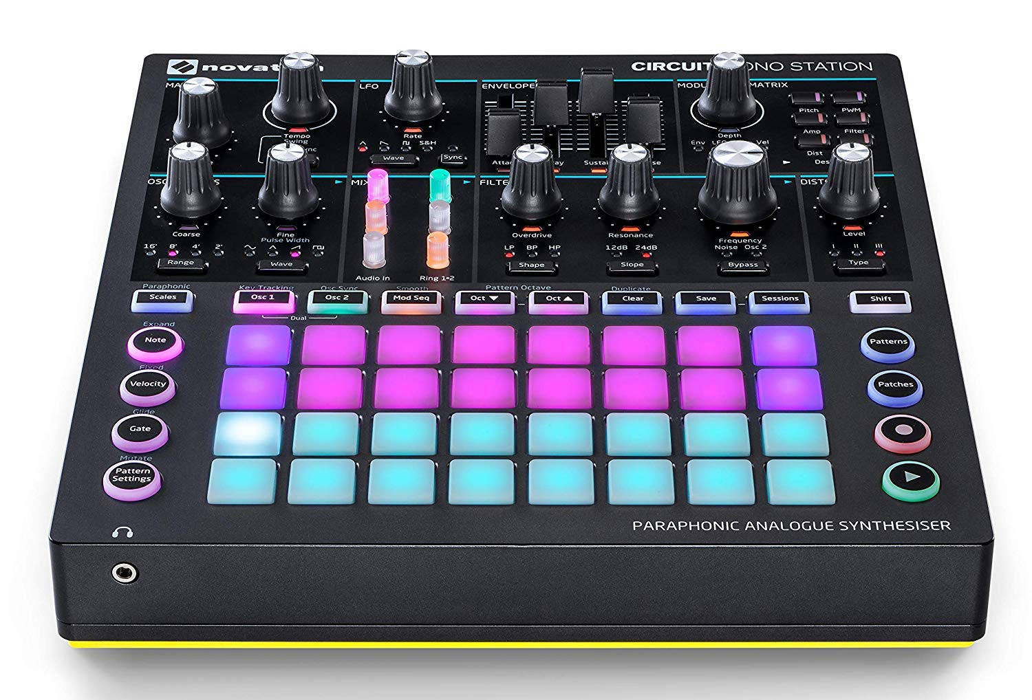Novation Circuit Mono Station Paraphonic Analog Synthesizer with Microfiber and 1 Year Everything Music Extended Warranty by Novation (Image #2)