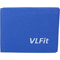 VLFit Opvouwbare yogamat voor reizen, 6 mm dikke oefenmat voor yoga, pilates, work-out, gym, fitness, draagbare antislip…