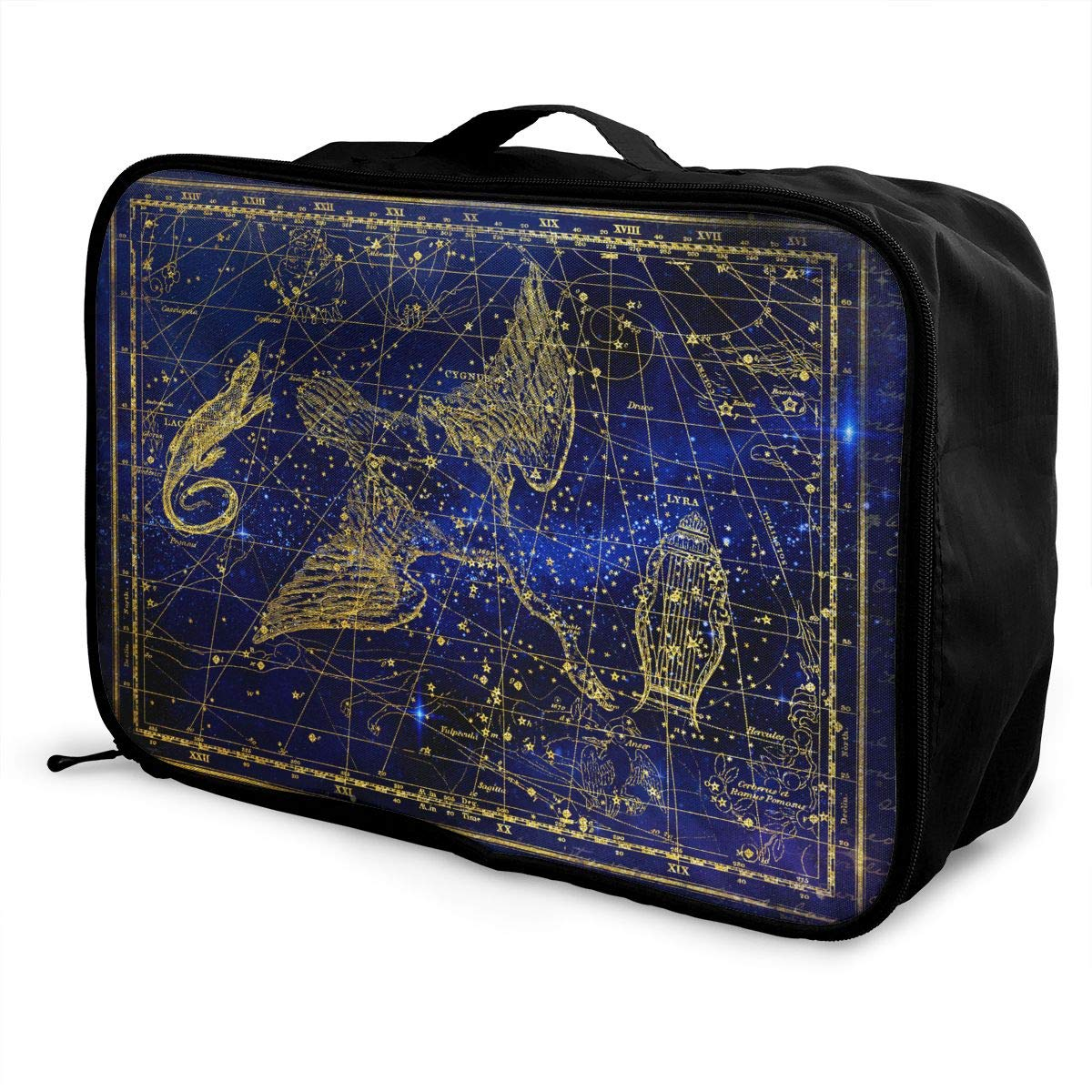ADGAI Stars Become A Constellation Canvas Travel Weekender Bag,Fashion Custom Lightweight Large Capacity Portable Luggage Bag,Suitcase Trolley Bag