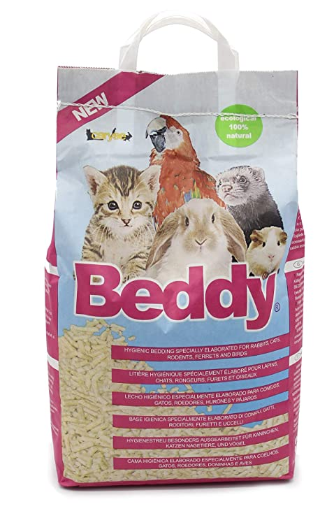 BPS 10L Lecho Higienico Virutas de Madera para Mascotas Serrín para Gato Animales Pequeños Hámster Conejo