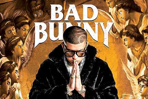 Amazon Com Poster Bad Bunny Music 24in X 36in Conejo Malo