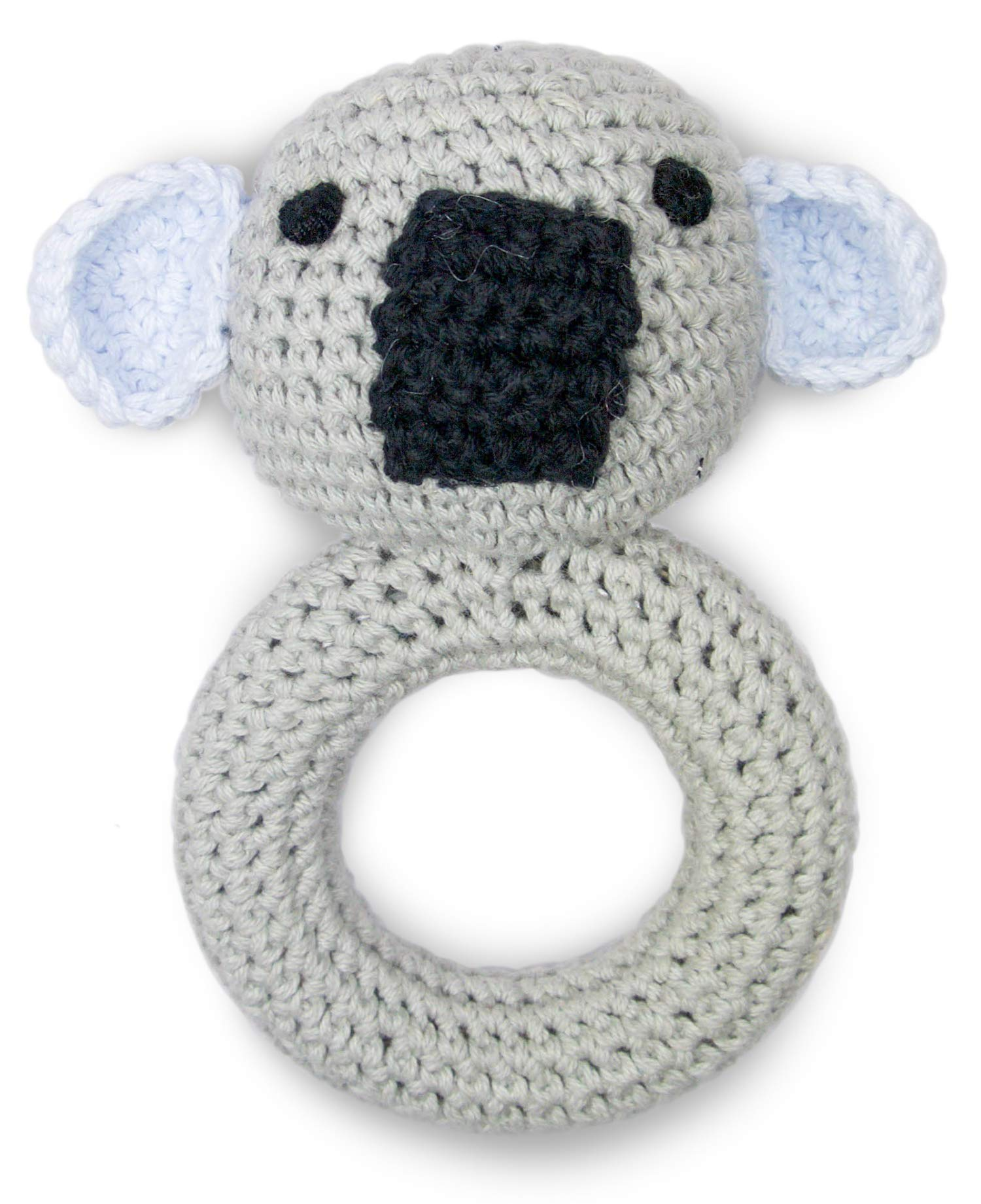 Cute New York Pure Cotton Knit Animal Rattle for Baby Boy or Girl/(Koala)