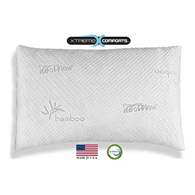 Hypoallergenic Bamboo Pillow - Shredded Memory Foam With Kool-Flow Micro-Vented Bamboo Cover