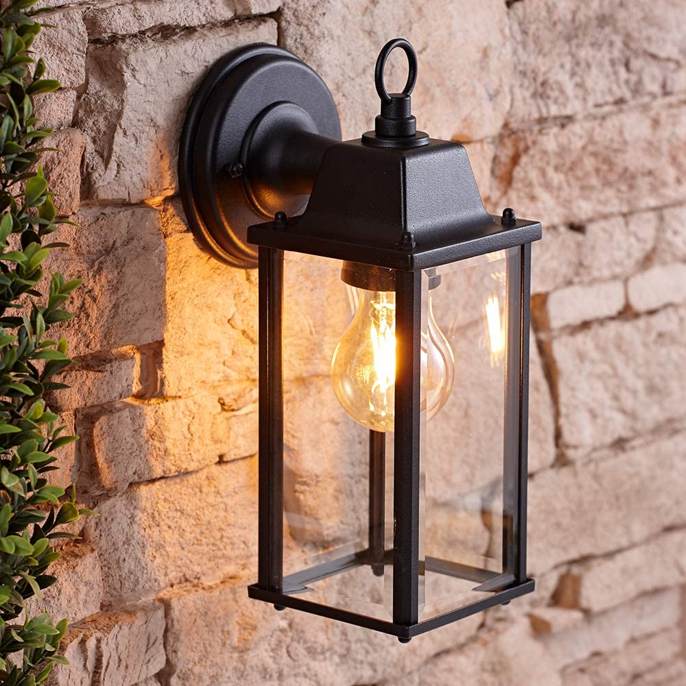 Biard Traditional Square Outdoor Wall Lantern Alfta 42w E27 Retro Wall Lighting With Fixing Kit Included Warm Welcoming Light Ideal For Porch Driveway Patio Garden Energy Rating A