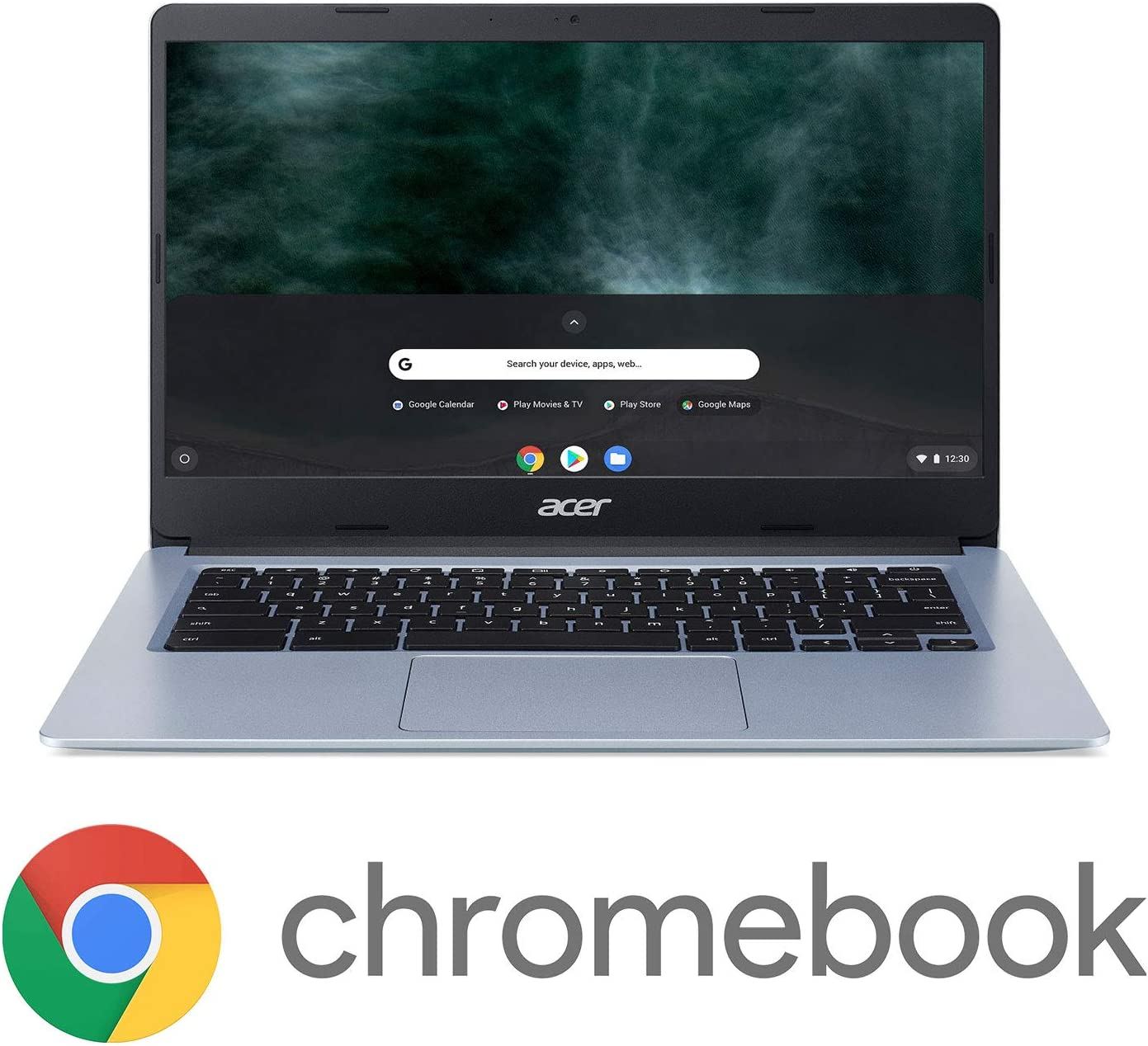 "Acer Chromebook 314, Intel Celeron N4000, 14"" HD Touch Display, 4GB LPDDR4, 64GB eMMC, Gigabit WiFi, Google Chrome, CB314-1HT-C7C0"
