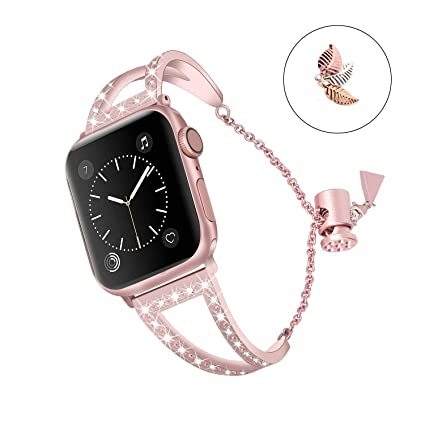 Amazon.com: Bling Bracelet Compatible para Iwatch bandas ...