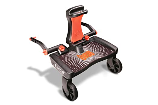 Lascal BuggyBoard Maxi+, Universal Ride-On Stroller Board with Built-in Saddle, Fits More Strollers Than Any Other Board Using The Patented Universal ...