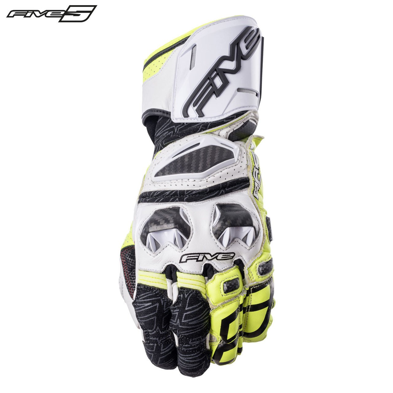 Five RFX 2017 Adult Street Bike Motorcycle Gloves - Fluo Yellow/X-Large