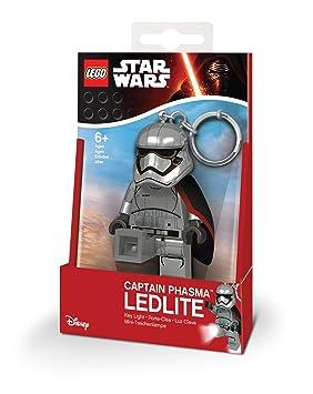LEGO 31256 – Star Wars Captain Phasma minitasc henlampe y Llavero con ledes, 7.6 cm