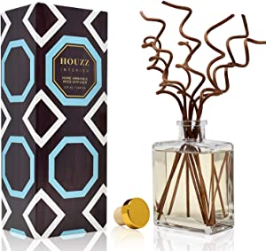 HOUZZ Interior Reed Diffuser Sticks California Redwood Room Fragrance – Rich Woods, Sandalwood, Leather, Minty Patchouli & Amber – Natural Essential Oils – No Sulfates or Parabens – Made in The USA