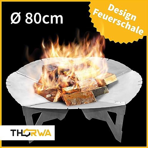 Premium hoguera 80 cm en turbinas Diseño & # x2022; cesta para el jardín & # x2022; Brasero como Barbacoa & # x2022; desmontable: Amazon.es: Jardín